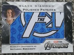 Scarlett Johansson Natasha Romanoff Polished Patch 2021 UD Marvel Black Diamond