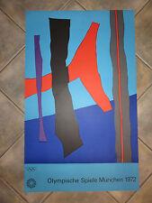 Winter Fritz : Lithographie, affiche des jeux Olympiques  Munich de 1972.