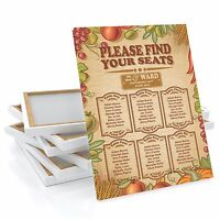 Personalised Rustic Harvest Autumn Wedding Table / Seating Plan Large A1 A2 A3