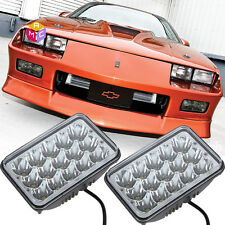 Pair LED Headlights Conversion Sealed Hi/Low Beam for Chevy Camaro 1982-1992