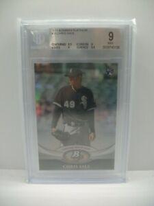 CHRIS SALE 2011 Bowman Platinum #35 BGS MINT 9 White Sox, Red Sox RC