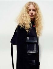 STAR PIECE ** CELINE ** RUNWAY HOLSTER BAG WOOL COAT (40), PHOEBE PHILO 2015 NWT