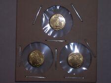 1907 MINI ST GAUDENS GOLD COINS 1/2 GRAM BULLION x3 for one money!