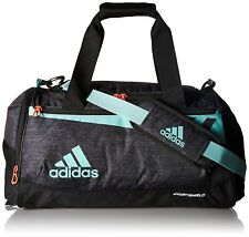 adidas Team Issue Small Duffel Gym Bag Workout Black Jersey energy Aqua 2271d62331cfe