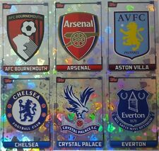 MATCH ATTAX  2015 / 16 CLUB CREST / BADGE  Complete FOIL Card Set of 20  15 / 16