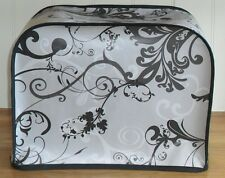 Black Edged Swirls Vinyl Cover for KENWOOD CHEF Food Mixers