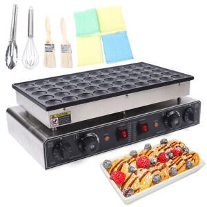 NEW Nonstick Electric 50 Holes Mini Pancake Machine Poffertjes Baker Dutch Maker