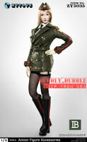 """1/6 Female Head Sculpt with Military Leather Uniform Set B For 12"""" Figure ☆USA☆"""