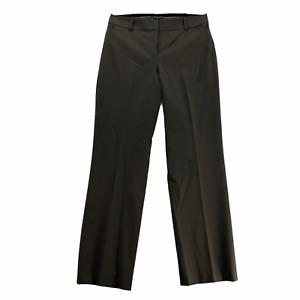 Ann Taylor Womens Regular size 10 Brown Flat Front Wool Lined Dress Pants Slacks