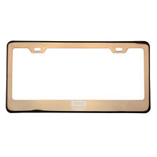 Rose Gold Laser Etched Jeep Logo License Plate Frame w/Cap T304 Stainless Steel