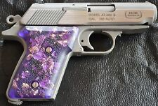 Accu-Tek Excel AT .380 pistol grips violet and gold leaf swirl plastic