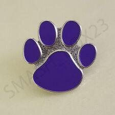 Animals In War Purple Paw Design Enamel Lapel Pin Badge Brooch Cat Dog Poppy UK