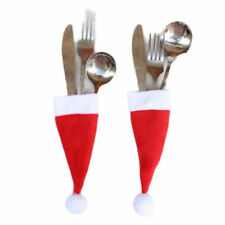 Santa Hat Cutlery Coloured Christmas Table Decorations and Settings