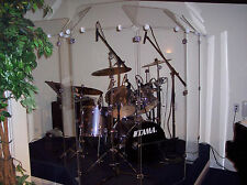 Drum Shield/Drum Screen/  Six Panels - 2ft. x 6 ft. Panels w/ Deflectors 7ftTall