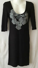 ATMOSPHERE Ladies Women Black Tunic Dress Size UK 8 EU 36. USED ONCE !!!