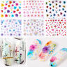 3D Nail Art Transfer 50 Sheets Stickers Flower Decals Manicure Decoration Tips