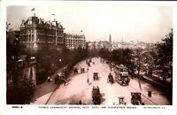 Thames Embankment Hotel Cecil RPPC postcard real photograph antique London