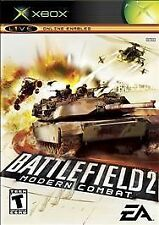 XBOX BATTLEFIELD 2 MODERN COMBAT W/MANUAL USED UNTESTED