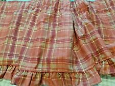 "1  Valance JC Penny VTG ""Cenefa De Corte"" Red Plaid 88"" X 15"" Made in USA  MINT"