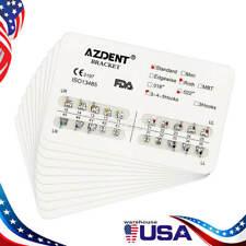 Azdent Dental Orthodontic Brackets Standard Roth Slot022 Hooks 3 4 5 Metal Usps