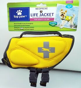 TOP PAW Neon Yellow & Gray Dog Life Jacket (XS) (NEW)