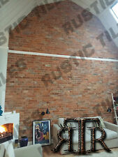brick slips cladding wall tiles old featured wall rustic tiles RED CLAY