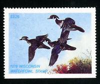 US Duck Wisconsin Stamps # 1 VF LH Scott Value $65.00