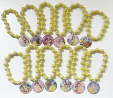 12x Beauty and the Beast Belle Beaded Stretch Bracelets Birthday Party Favors