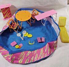 Vtg Barbie 1980s/90s Swimming Pool Lot Diving Board,Bar,Lawn Furniture More!