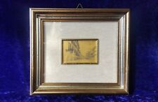"Vintage Picture ""Italian Street"" on Gold Plate"