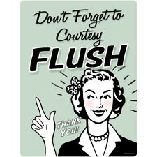 Dont Forget Courtesy Flush Funny Wall Decal 12 x 16 Bathroom Removable Decor