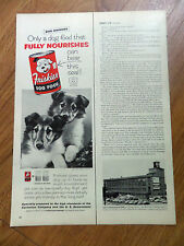 1955 Friskies Dog Food Ad Collie Dogs Puppies 1955 New York Life Insurance Ad