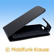 Flip Case Etui Handytasche Tasche Hülle f. Nokia C5-03 (Schwarz)