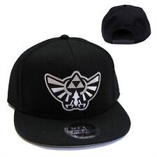 Legend of Zelda Hyrule's Royal Crest Silver Patch Flat Bill Black Cap Hat - LZ05