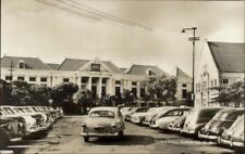 Curacao NWI Town Hall Old Cars Real Photo Postcard jrf