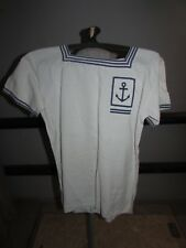 Marine nationale sailor navy france original french white uniform jacket