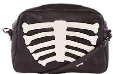 Iron Fist Wishbone Skeleton Bones Scary Punk Rock Goth Handbag Purse Clutch Bag