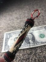 Handmade Made In Montana State Prison Hitched Horse Hair Keychain Collectable