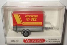 Wiking 005605 1-achs PKW-Anhänger Feuerwehr 1:87 Spur H0