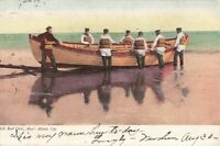 Postcard Life Boat Crew Atlantic City New Jersey Posted 1905