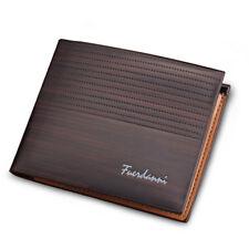 Men's Bifold Leather Credit ID Card Holder Wallet Billfold Purse Clutch Billfold
