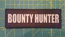 2x6 Bounty Hunter Chest Rig Plate Carrier Morale Patch Hook Loop Bail Bondsman