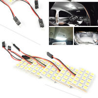 5pcs Car Interior 12V White 15SMD 5050 LED Light Lamp Panel T10 Festoon Dome