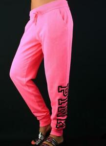 Victoria's Secret PINK Classic Jogger Sweat Pants Fleece Logo Lounge NWT
