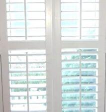 """INTERIOR VINYL PLANTATION SHUTTERS WHITE 26"""" W x 59 5/8"""" L"""