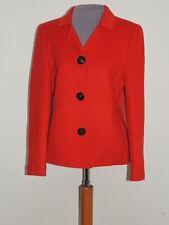 Akris  Red Wool / Cashmere  Blend Jacket   sz 6 SM
