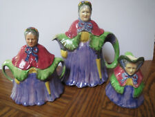 LITTLE OLD LADY TEA POT SET - 1938 - JWC - MADE IN ENGLAND