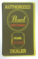 PEARL DRUM VTG 1980s Original Authorized Dealer Decal Sticker For Glass RARE NOS