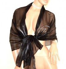 ÉTOLE foulard NOIR femme châle de cérémonie echarpe voilé élégant scarf Schal F1