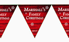 Family Merry Christmas Xmas Personalised Banner Bunting Fireplace Decorations